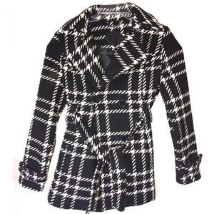 JouJou Double Breasted Plaid Coat